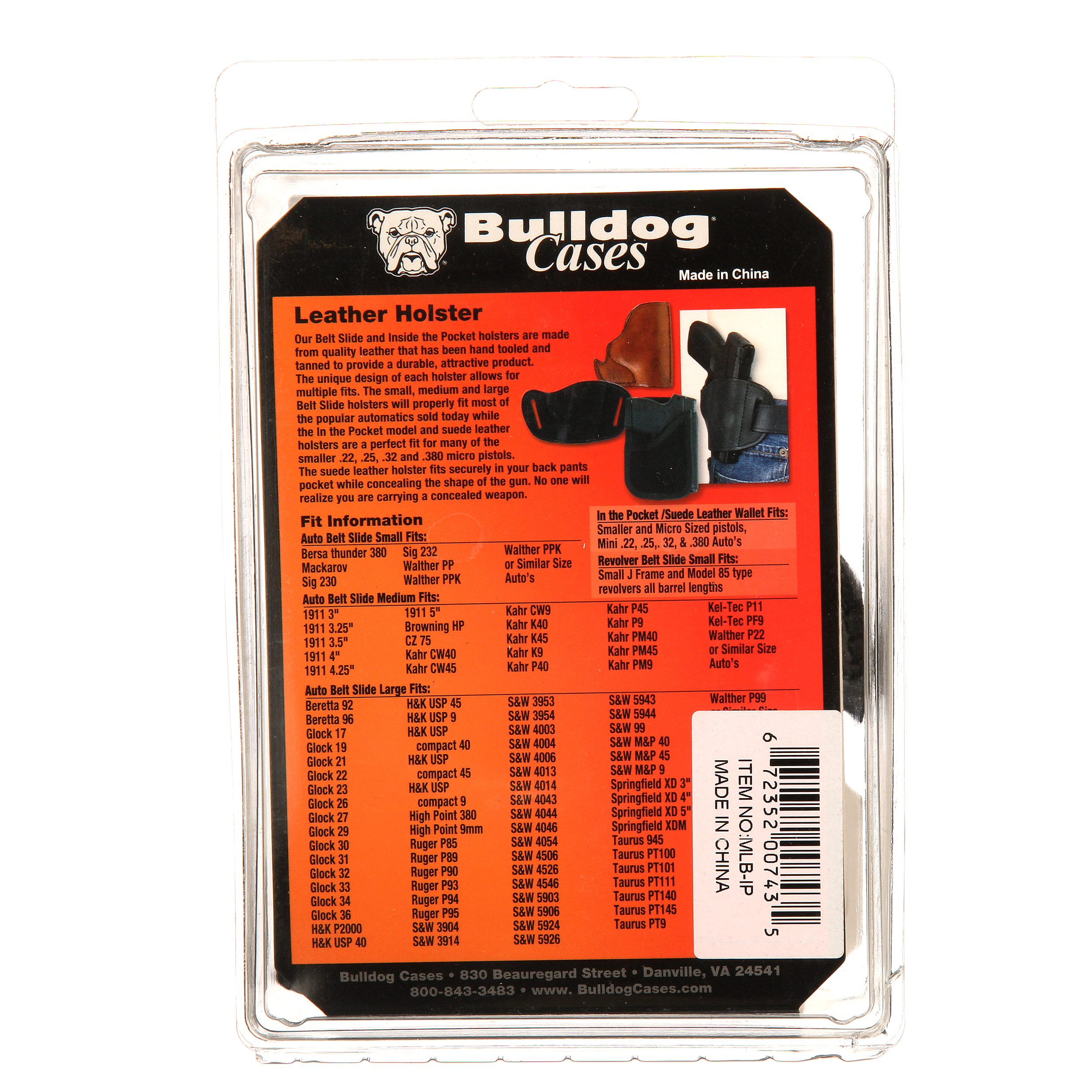 BULLDOG SUEDE LEATHER WALLET HOLSTER FOR MICRO SIZED PISTOLS